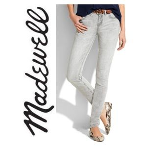 MADEWELL Gray Skinny Jeans in Silversmith Wash -27